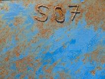 Superfície de metal oxidada Fotografia de Stock Royalty Free