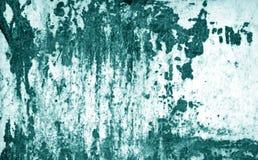 Superfície de metal oxidada suja no tom ciano imagens de stock royalty free