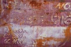 Superfície de metal oxidada velha Imagens de Stock