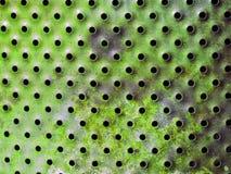Superfície de metal perfurada carimbar Textura Imagens de Stock Royalty Free