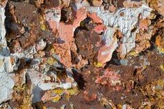Superfície de metal velha Fotos de Stock