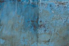 Superfície de metal vestida velha com pintura Textura oxidada do metal Fundo Metal parede fotos de stock