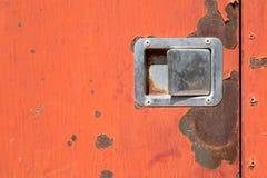 Superfície de metal vestida velha com pintura Textura oxidada do metal Metal sh fotos de stock royalty free