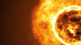 Superfície de Sun com alargamentos solares Fundo científico abstrato Foto de Stock Royalty Free
