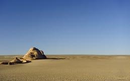 Superfície de terra yadan original no deserto de Gobi fotografia de stock royalty free