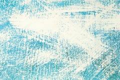 Superfície desigual azul do sumário pintada com pintura branca, fundo, textura ilustração do vetor