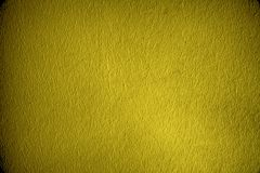 Superfície do emplastro ou parede ultra amarela do estuque - dentro fundo Imagem de Stock Royalty Free