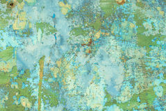 A superfície do ferro é coberta com o fundo velho da textura da pintura fotos de stock