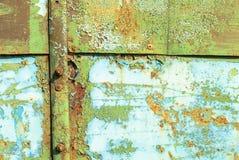 A superfície do ferro é coberta com a textura velha da pintura fotografia de stock royalty free