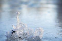 Superfície do gelo imagens de stock