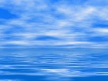 Superfície do mar e céu nebuloso Fotos de Stock Royalty Free