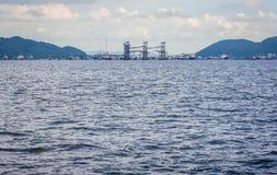 A superfície do mar está acenando Foto de Stock Royalty Free