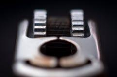 Superfície dos isqueiros isolados em um fundo preto imagens de stock