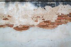Superfície e parede de tijolo concretas e ásperas sujas Imagens de Stock Royalty Free