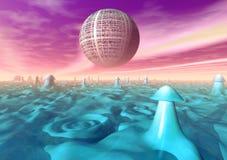 Superfície Funky do planeta Imagens de Stock