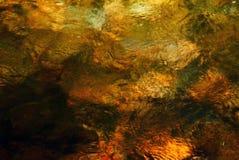 Superfície iluminada da água Fotos de Stock Royalty Free