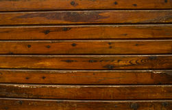 Superfície listrada marrom velha da parede Fotografia de Stock