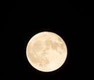 A superfície lunar fascinante com suas crateras Foto de Stock Royalty Free