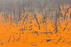 Superfície metálica oxidada alaranjada Imagens de Stock