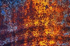Superfície metálica oxidada com corrosão imagem de stock