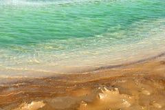 Superfície modelada da água de Mar Morto Fotografia de Stock