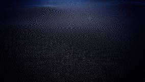 Superfície ondulada azul abstrata feita das bolas, rendição 3D Fotos de Stock