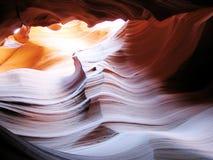 Superfície ondulada da rocha na garganta do antílope Imagens de Stock Royalty Free