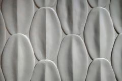 Superfície oval branca do sumário da forma para a parede interior moderna e o b fotografia de stock royalty free