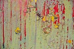 Superfície oxidada do ferro com a pintura descascada Imagens de Stock Royalty Free