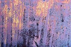 Superfície oxidada, pintada da lata Foto de Stock Royalty Free