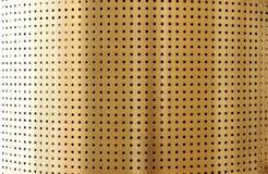 Superfície perfurada do metal Imagens de Stock