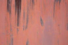 Superfície pintada do ferro com uma grande corrosão oxidada e do metal fotos de stock