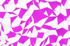 Superfície poligonal abstrata Fotos de Stock Royalty Free