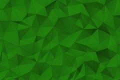 Superfície poligonal verde Imagem de Stock