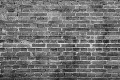 Superfície preta da textura do fundo do tijolo da parede fotos de stock