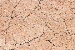 Superfície rachada seca da terra Foto de Stock Royalty Free