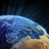 Superfície real de Europa Imagens de Stock