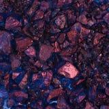 Superfície revestida com os cristais coloridos de sal Fotografia de Stock