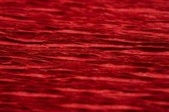 Superfície ribbled vermelho Fotografia de Stock Royalty Free
