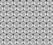 Superfície tridimensional brilhante moldada por um teste padrão das esferas conectadas (sem emenda) Fotos de Stock Royalty Free