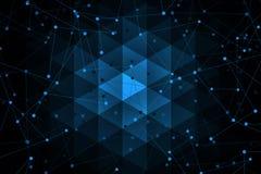 Superfícies da geometria, linhas e fundo abstratos dos pontos, imagens de stock royalty free