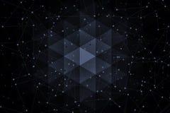 Superfícies da geometria, linhas e fundo abstratos dos pontos, fotos de stock royalty free
