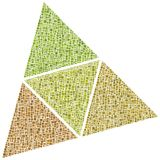 Superfícies de um tetrahedron Foto de Stock