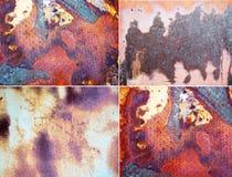 Superfícies metálicas oxidadas fotografia de stock