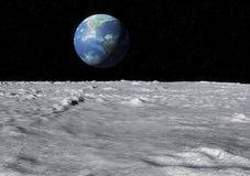 Superfície da lua da terra Fotos de Stock Royalty Free