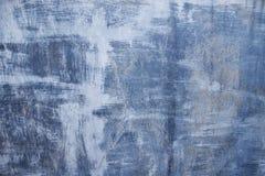 Superfície de metal riscada azul Foto de Stock Royalty Free