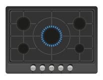 Superfície para a ilustração do vetor do fogão de gás Fotos de Stock Royalty Free