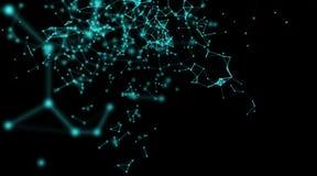 Superfici astratte della geometria, linee e fondo dei punti, usato come fondo digitale di tecnologia e della carta da parati Fotografia Stock Libera da Diritti