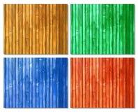 Superfici di legno colorate picchetto Fotografie Stock Libere da Diritti