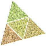 Superfici di un tetraedro Fotografia Stock
